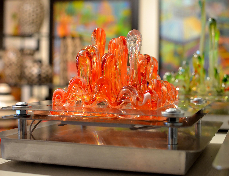 Glass Sculpture Lamp
