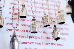 Vintage Flatware Angel Bell Necklace