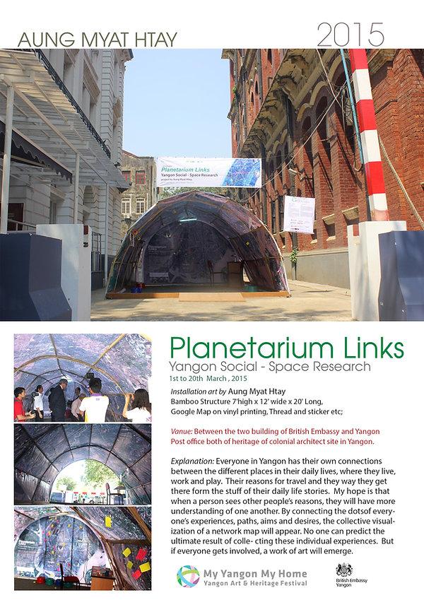 Planetarium Links, Installation 2015 Yan