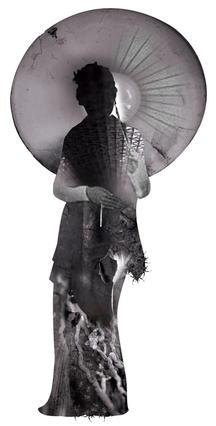 Kong Baung lady with Umbrella 01