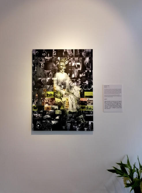 Queen of Deer, Installation at the exhibition opening