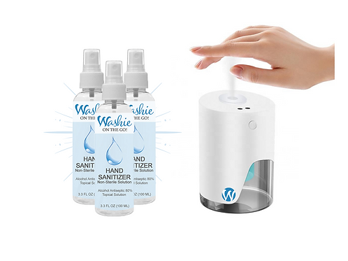 PRE-ORDER: Countertop Misting Dispenser + 3 Washie Hand Sanitizers