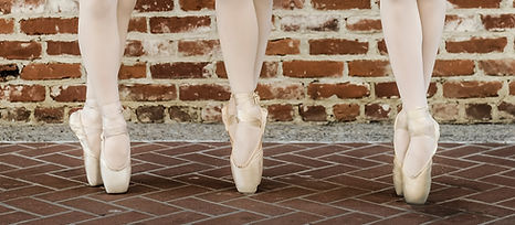pointe shoes on pointe