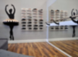 pointe shoe fitting bar