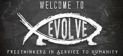 The Thinking Atheist EvolveFish banner