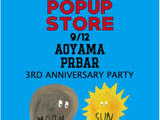 AOYAMA PR BAR 3RD ANNIVERSARY PARTY JORI  POP UP STORE