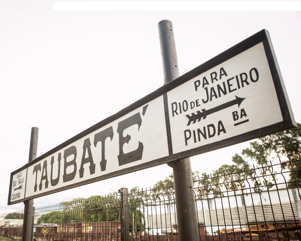 Placa Original da Estação de Taubaté