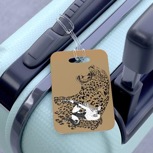 Phoenix the Jaguar Bag Tag - tan