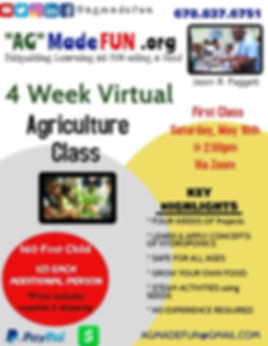 Virtual Agricultural Class 2 -(May 16th