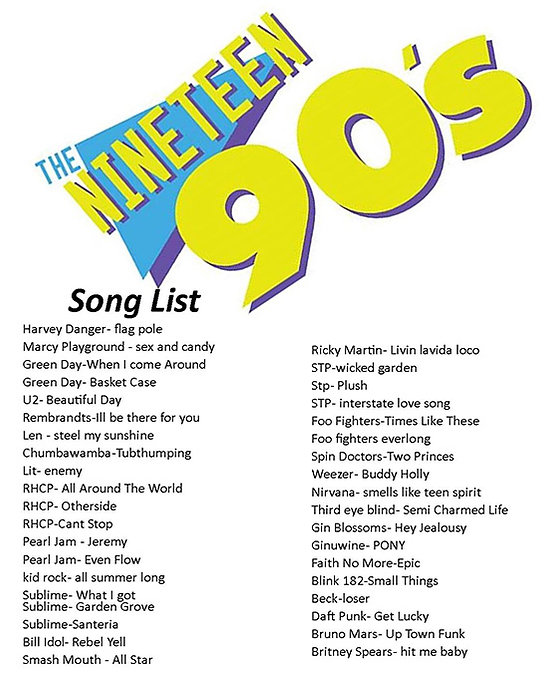 Nineteen90s song list.jpg