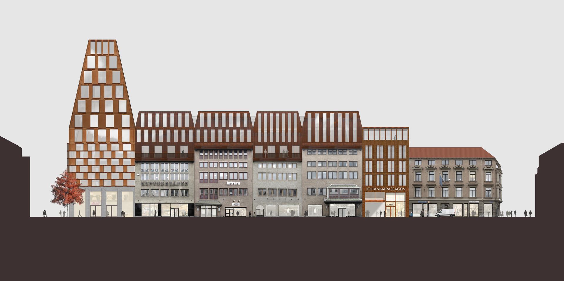 Fasad mot Södra Hamngatan   Bild: what! arkitektur