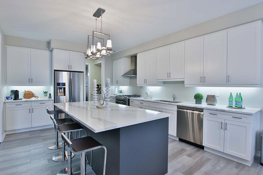 beautiful clean white kitchen