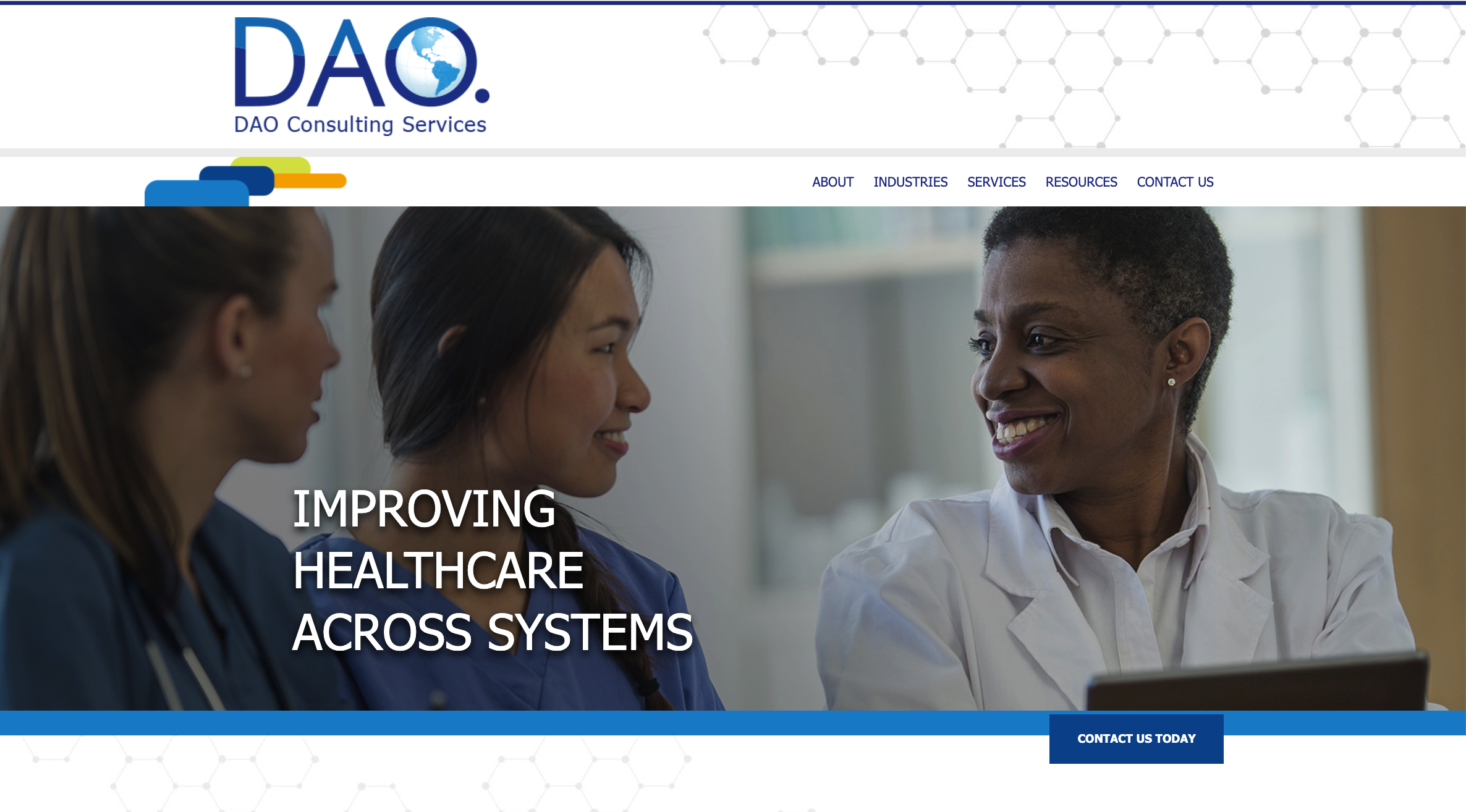 Dao Consulting Services website