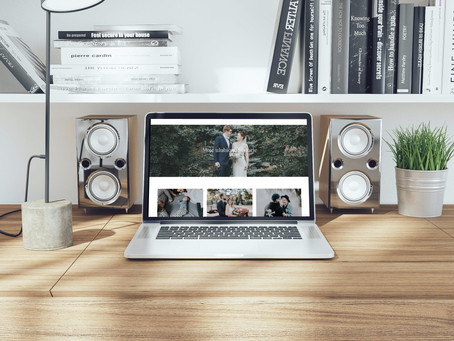 Wedding photographer website design case study