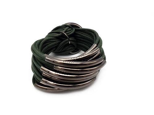 Army Green Gun 16 Bar Bracelet