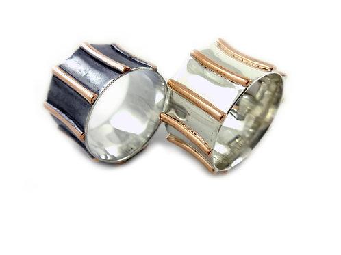 Sterling Silver Stripe Rings