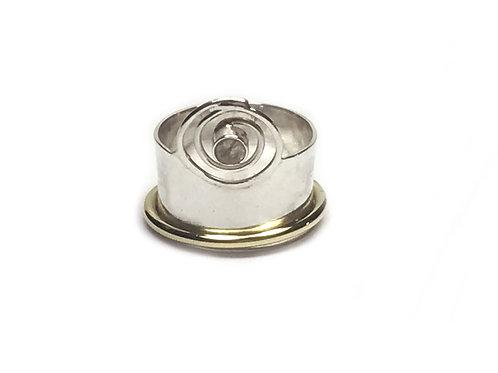 Swirly Silver Ring with Semi Precious Gem Stone