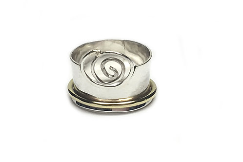 Sterling Silver Swirly Ring Stone
