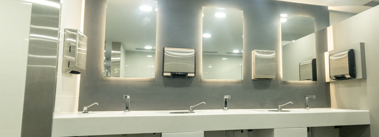 Delhi Airport Terminal 2 - Washrooms and Office Interiors executed by Genesis Infra