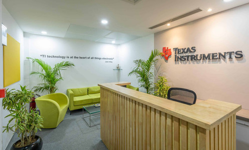 Texas Instruments Delhi: Office Interiors designed and built by Genesis Infra
