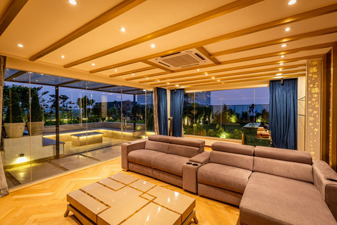 Terrace Lounge Interiors for a Residence in Delhi