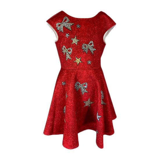 Hannah Banana Red Bow Party Dress