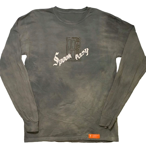 Hand-dyed, reflective long sleeve