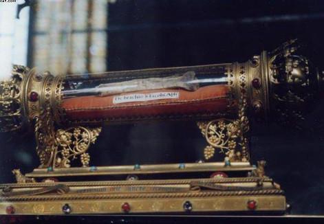 Reliquias del Apóstol santiago en Lieja, de la que procede la reliquia en poseción del Círculo de Santiago
