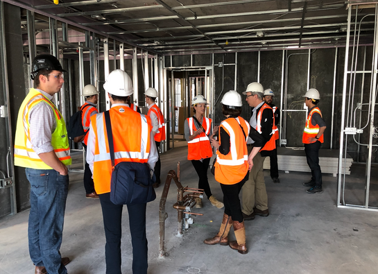 Members of the Burnham Council received a special tour of Wanda Vista Tower while it is still under construction.