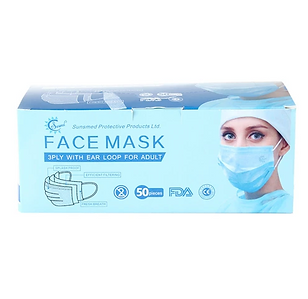 3-Ply Disposable Face Mask [Box of 50]
