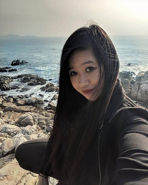 Asian Girl Hiking in San Francisco