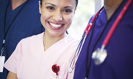 Medical Professional smiling.