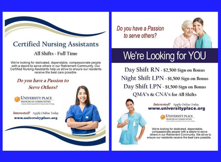 Now Hiring at University Place in West Lafayette