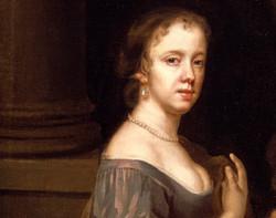 Mary Beale, Self-portrait, c.1660 Geffrye Mus. - detail