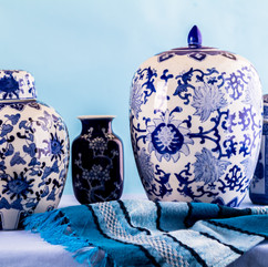 Still life with Japanese blue and white