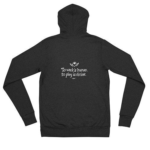 To Play is Divine Unisex zip hoodie