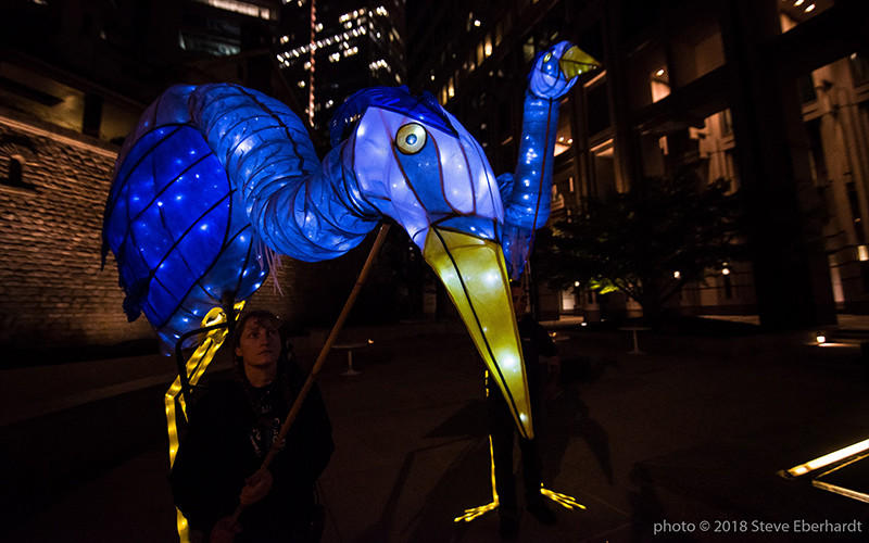 Great Blue Heron Puppets