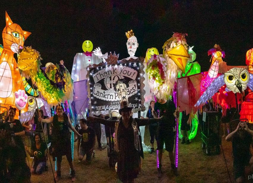 Krewe Lanterns Atlanta BeltlIne Lantern Parade