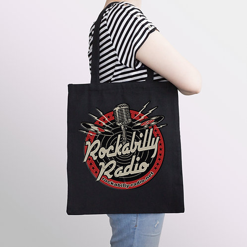 Black Tote Bag Red Logo