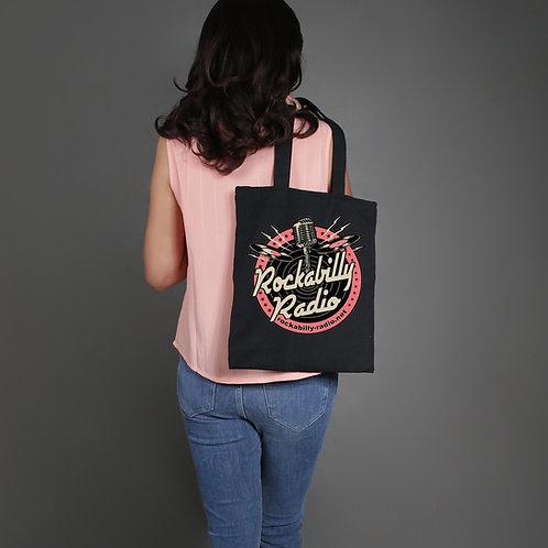 Black Tote Bag Pink Logo