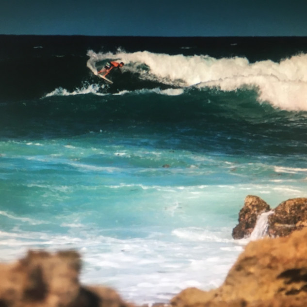 Le spot de surf de l'Anse Salabouelle