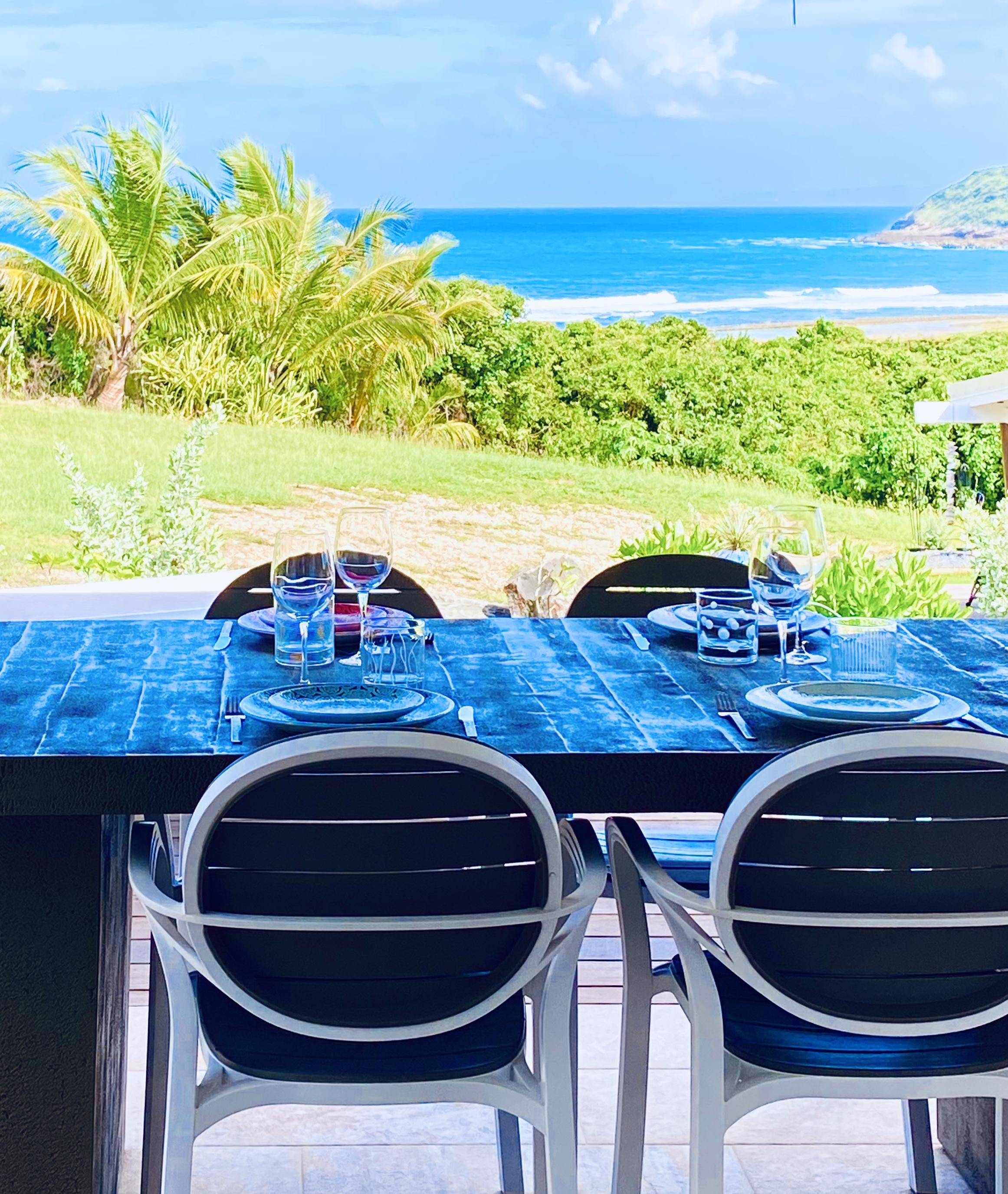 Déjeuner avec une telle vue !