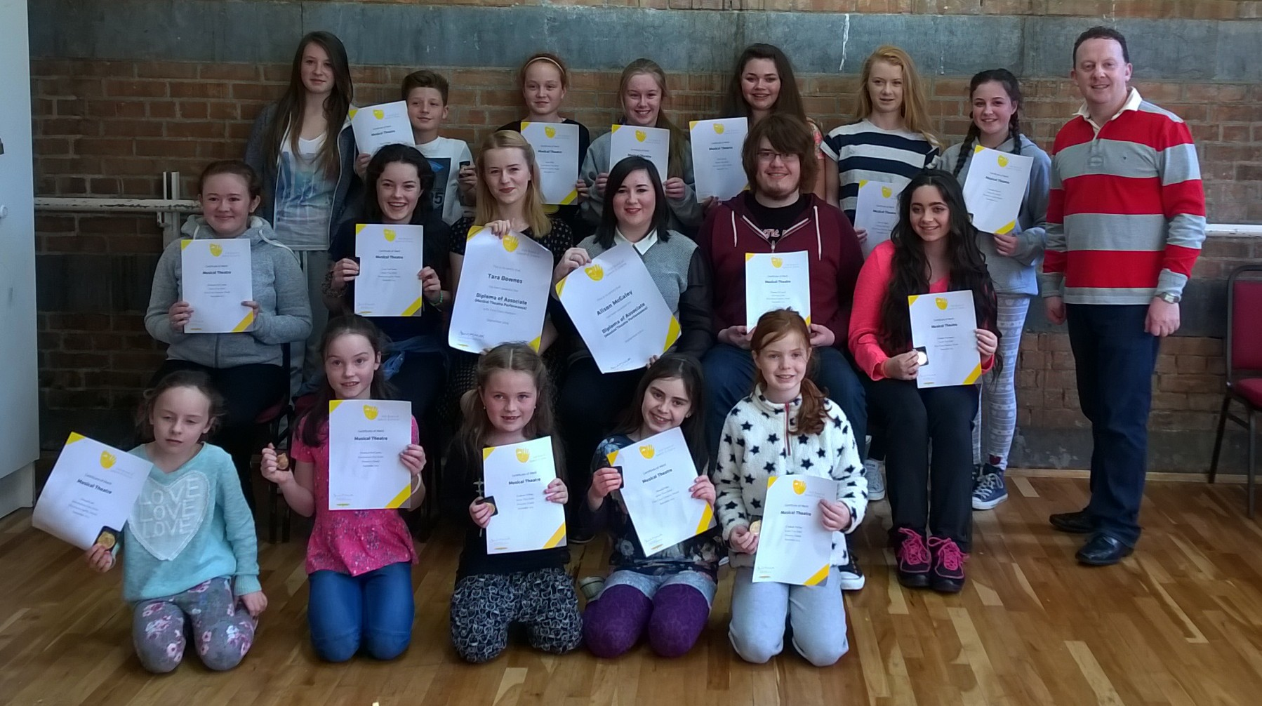 Singing Exam Students 2014