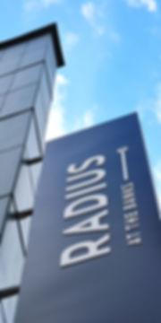 Radius at the Banks Identification Sign