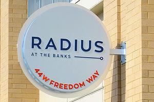 Radius at the Banks Sign