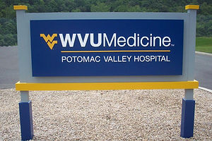 WVU Medicine Potomac Valley Hospital Identification Sign