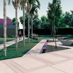 Praça Esportiva no Parque Cidade, em Limeira/SP, 2020