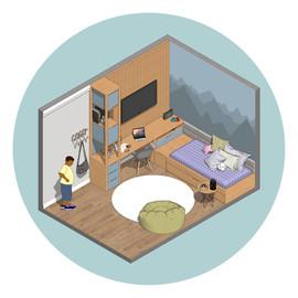 Dormitório Azul