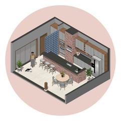 Reforma e ampliação de Área Gourmet