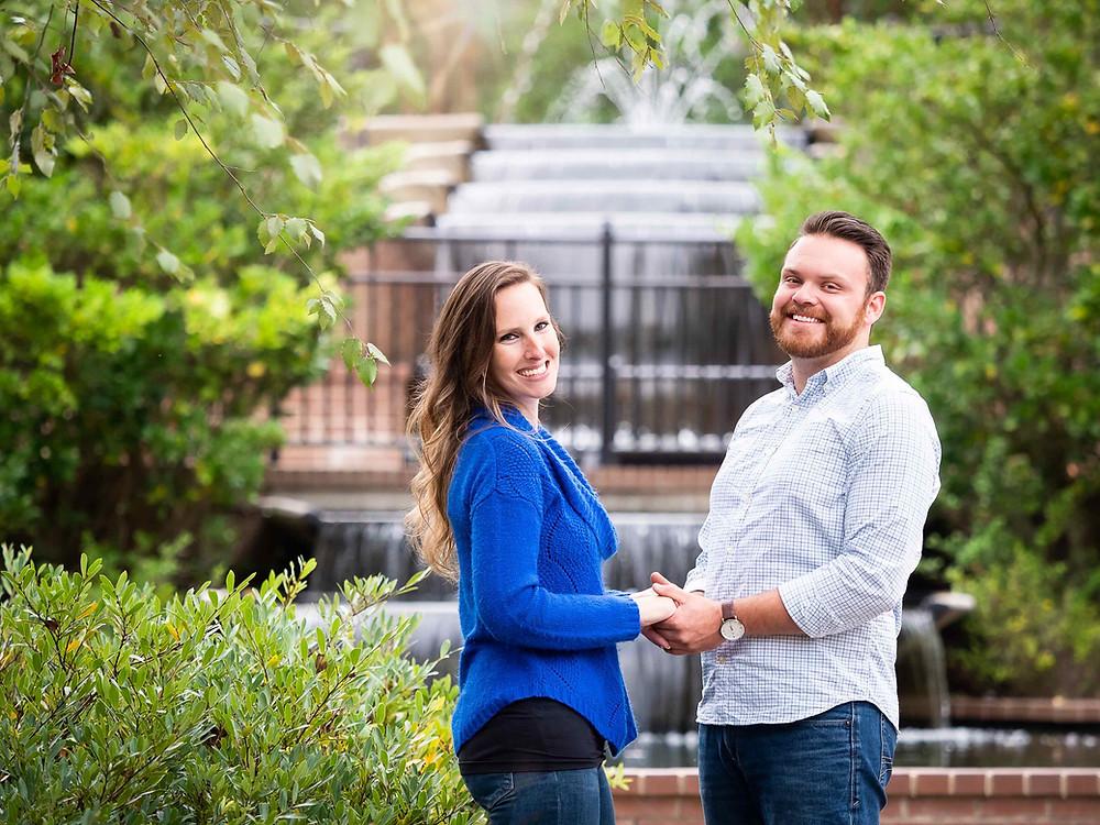 Engagement photo by Sharon Elisabeth Photography at Glencairn Garden